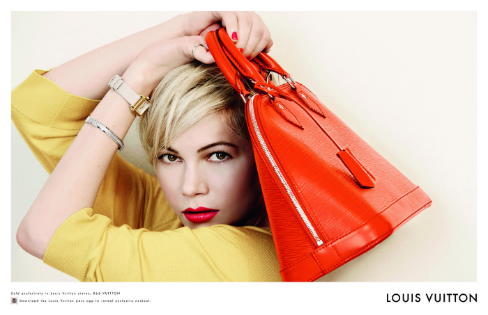 Michelle-Williams-Spring-2014-Louis-Vuitton-Handbag-Campaign-red